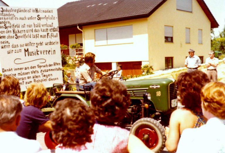 Festumzug 1976: Festwagen des TSV