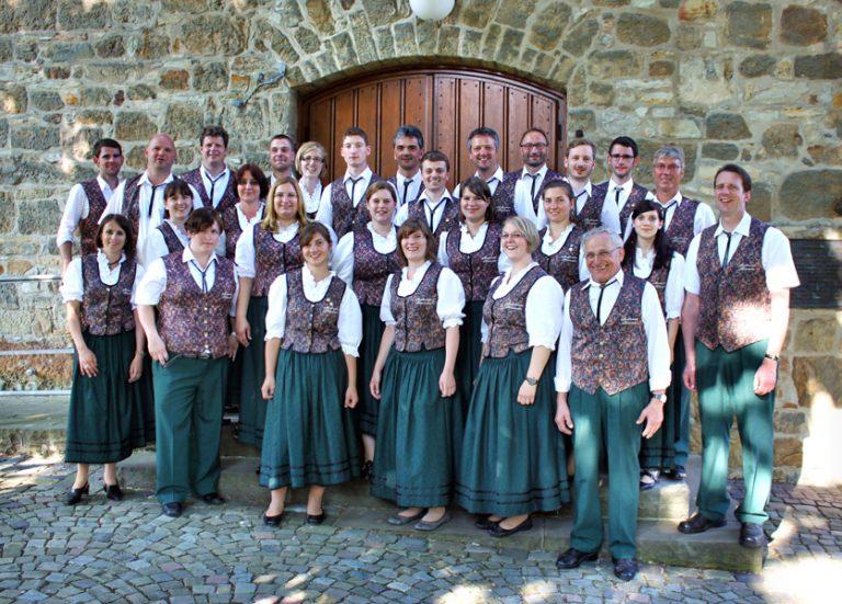 Gruppenbild der Stammkapelle mit Weste
