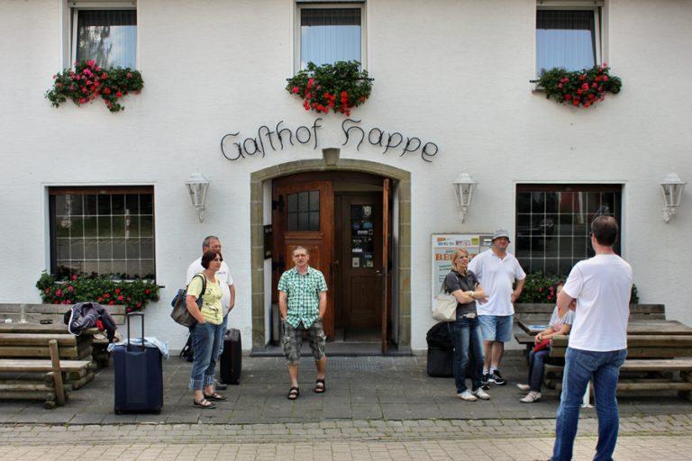 """Ankunft im Quartier """"Gasthof Hoppe"""""""