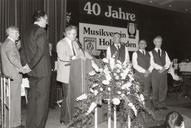 40 Jahre aktiv: Werner Kneile, Josef Hein und Josef Janka