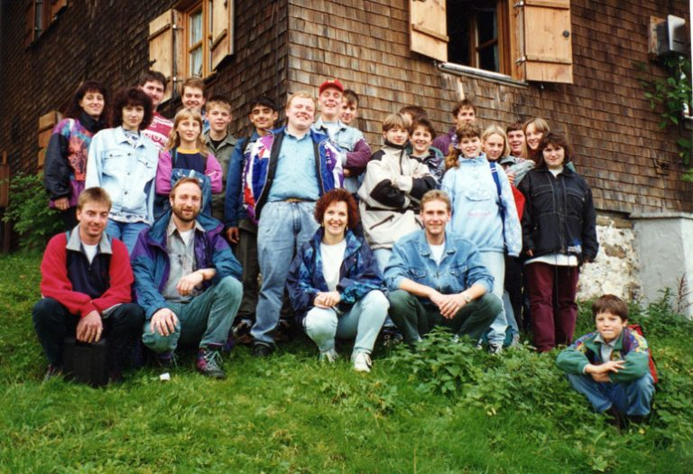 Wochenende auf der Hündlealm in Oberstaufen 1995